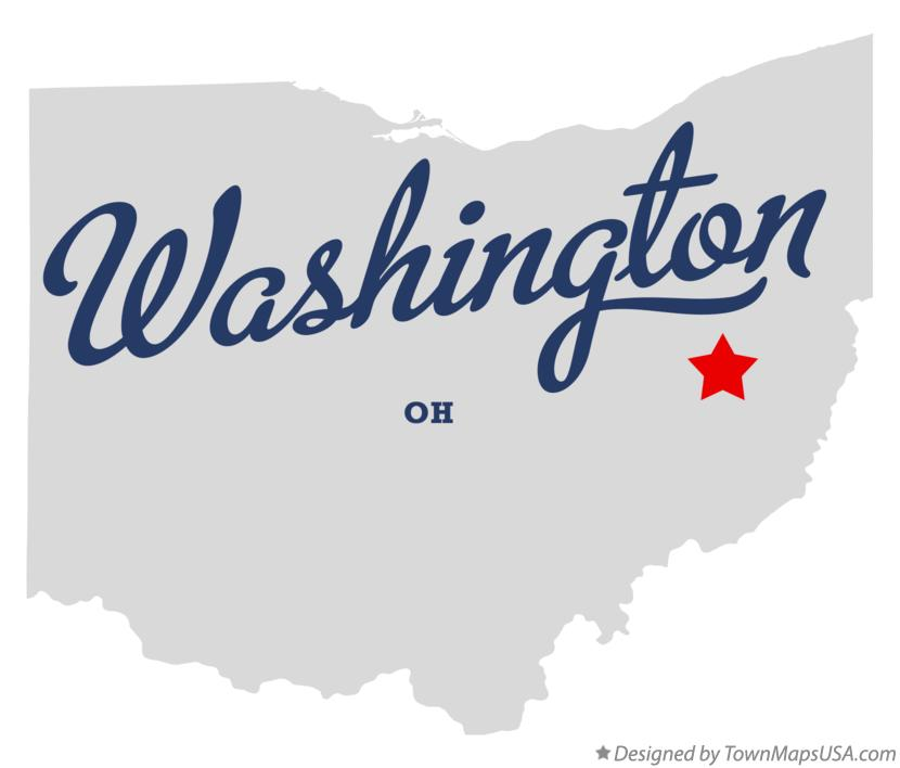 Map of Washington Ohio OH