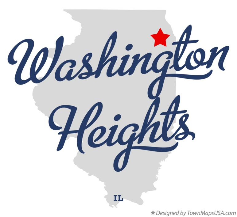 Map of Washington Heights Illinois IL