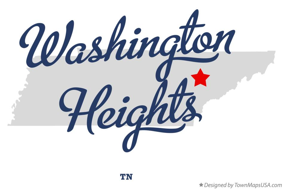 Map of Washington Heights Tennessee TN