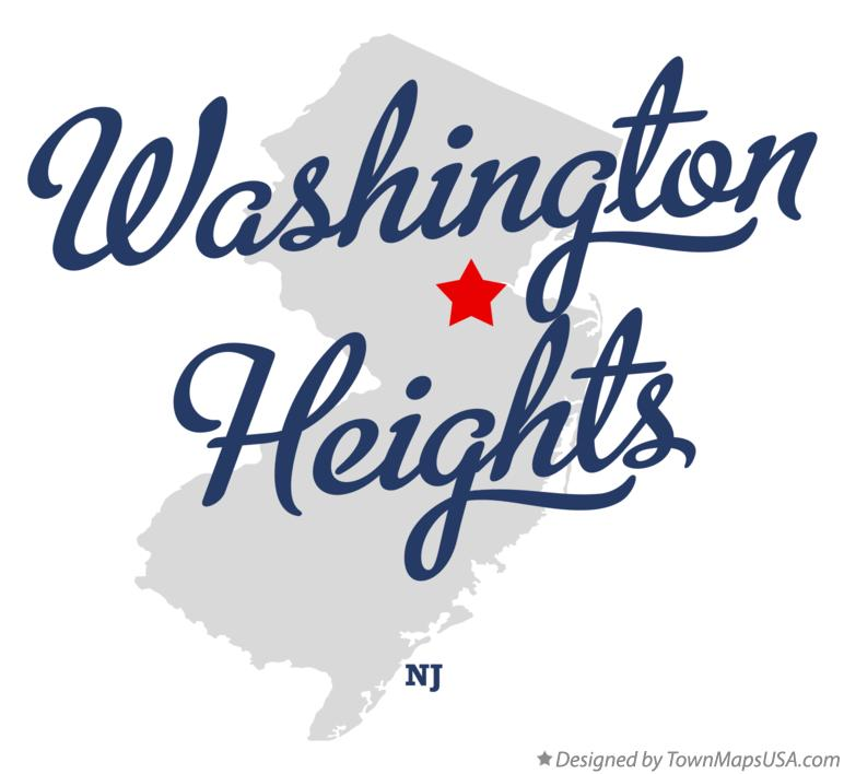 Map of Washington Heights New Jersey NJ