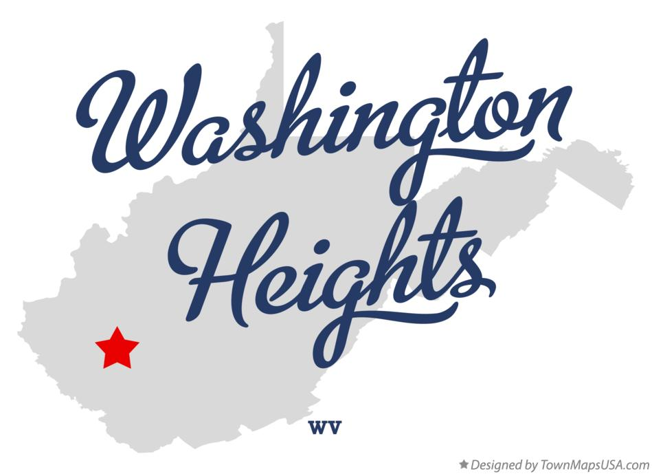 Map of Washington Heights West Virginia WV
