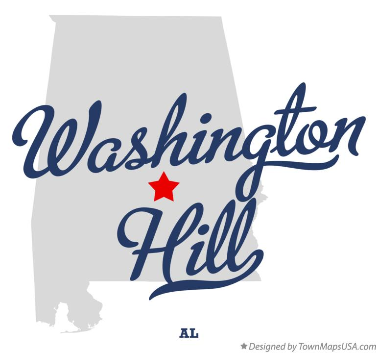 Map of Washington Hill Alabama AL