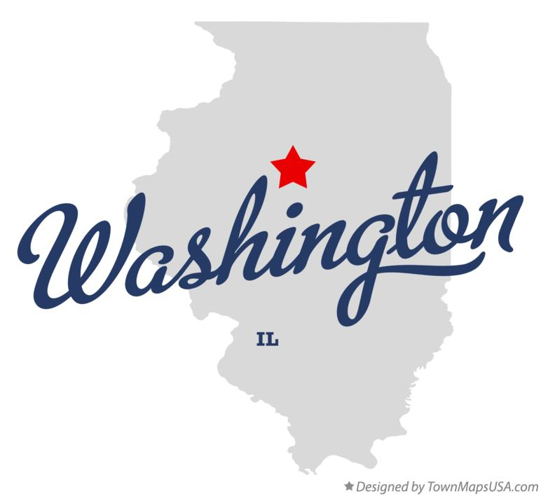 map of washington illinois il