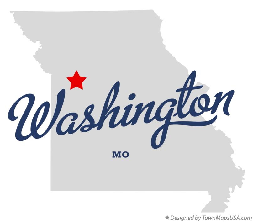 Map of Washington Missouri MO