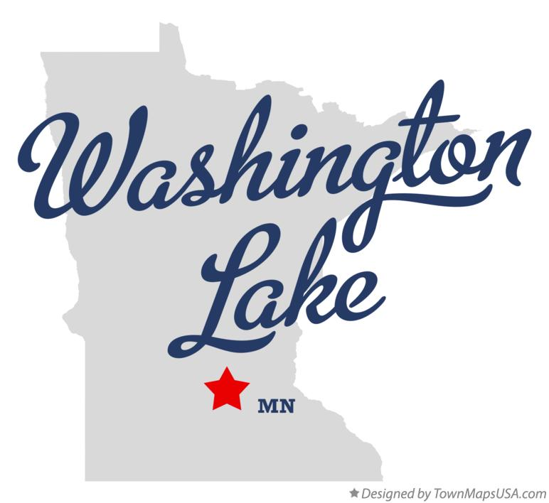 Map of Washington Lake Minnesota MN