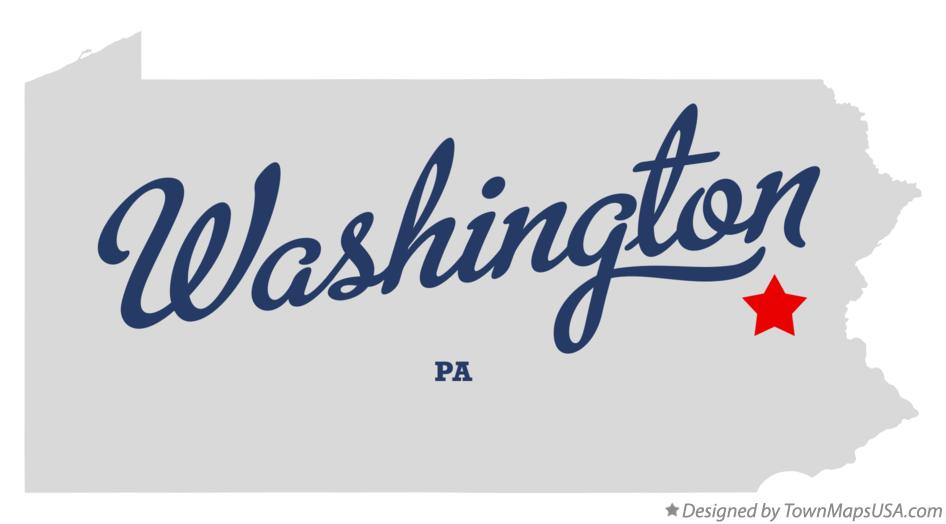 Map of Washington Pennsylvania PA