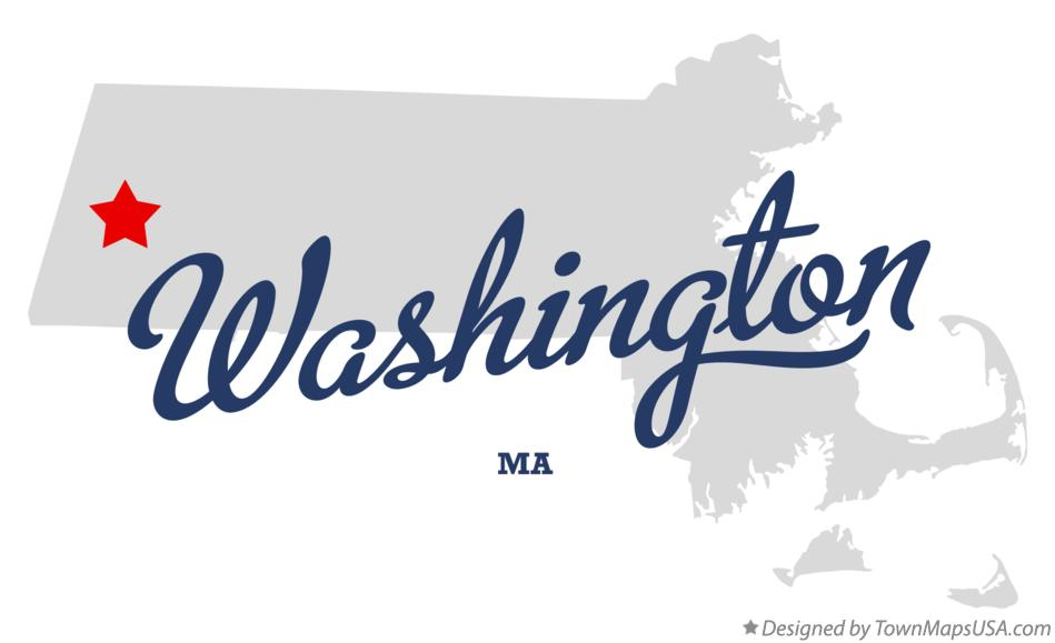 Map of Washington Massachusetts MA