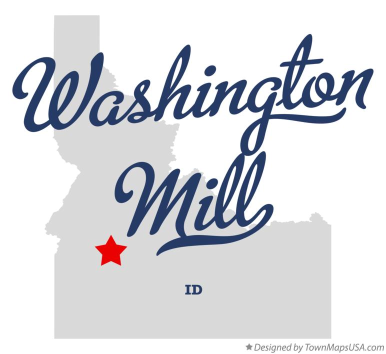 Map of Washington Mill Idaho ID