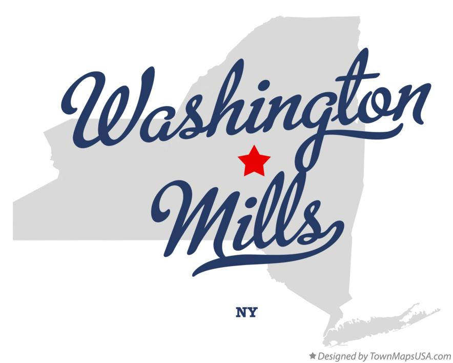 Map of Washington Mills New York NY