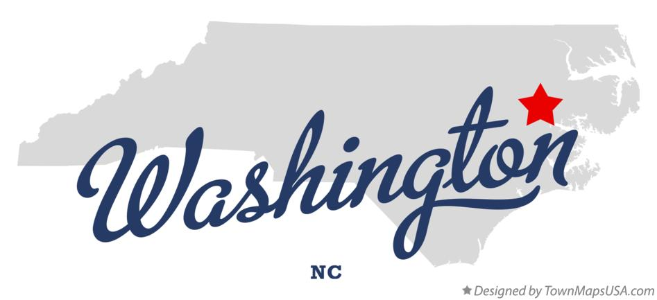 Map of Washington North Carolina NC