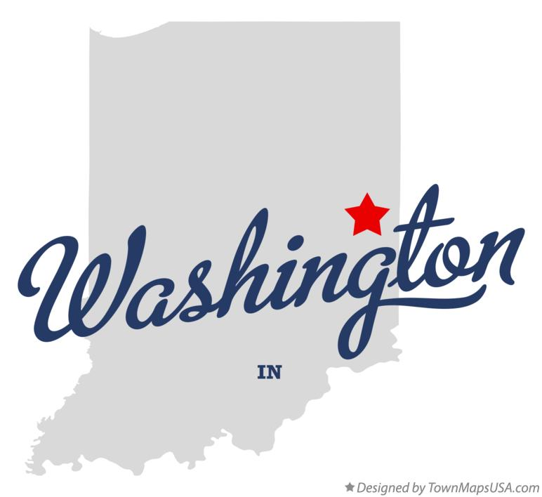 Map of Washington Indiana IN