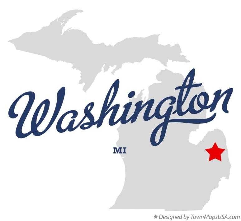 Map of Washington Michigan MI