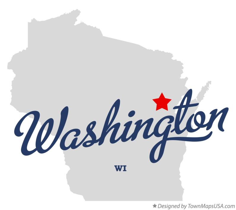 Map of Washington Wisconsin WI