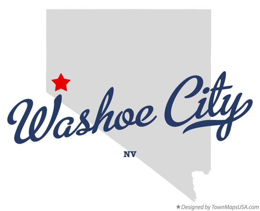 Map of Washoe City Nevada NV