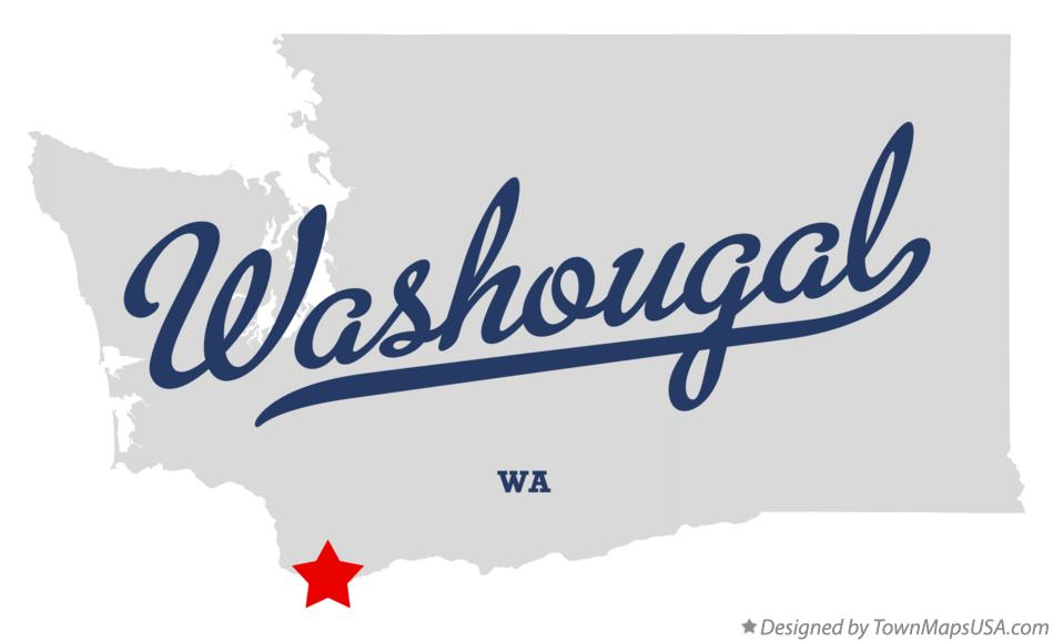 Map of Washougal Washington WA