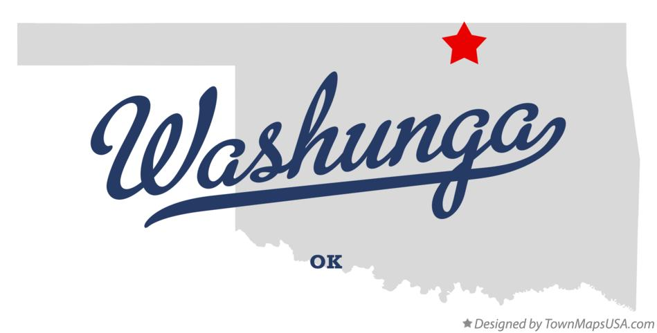 Map of Washunga Oklahoma OK