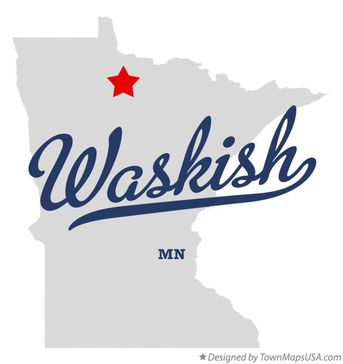 Map of Waskish Minnesota MN