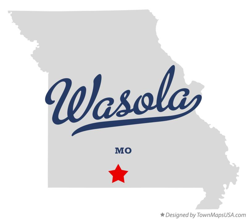 Map of Wasola Missouri MO