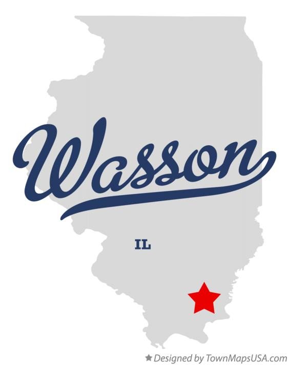 Map of Wasson Illinois IL