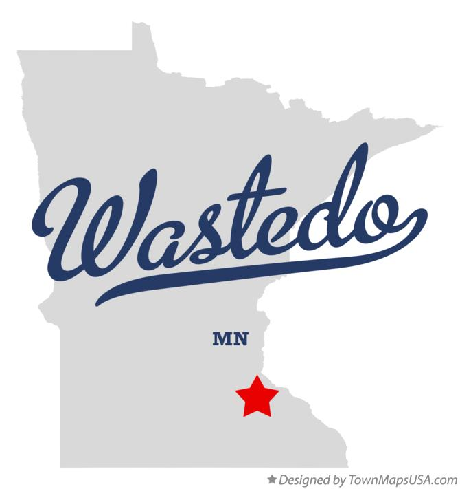 Map of Wastedo Minnesota MN