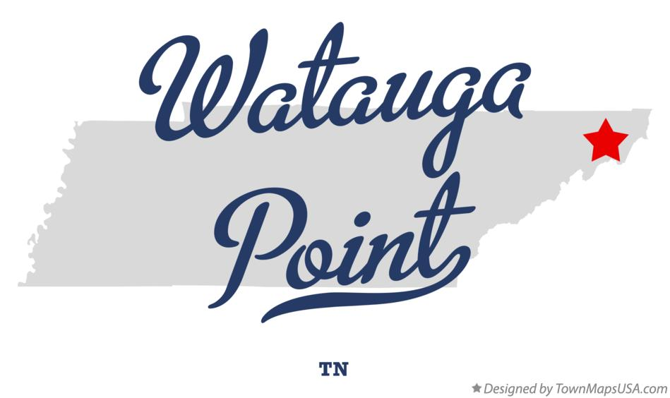 Map of Watauga Point Tennessee TN
