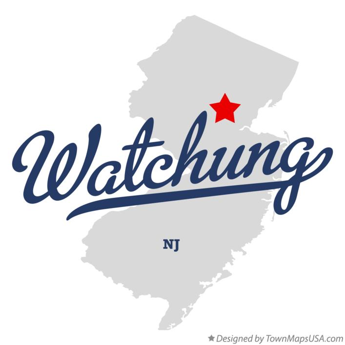 Map of Watchung New Jersey NJ