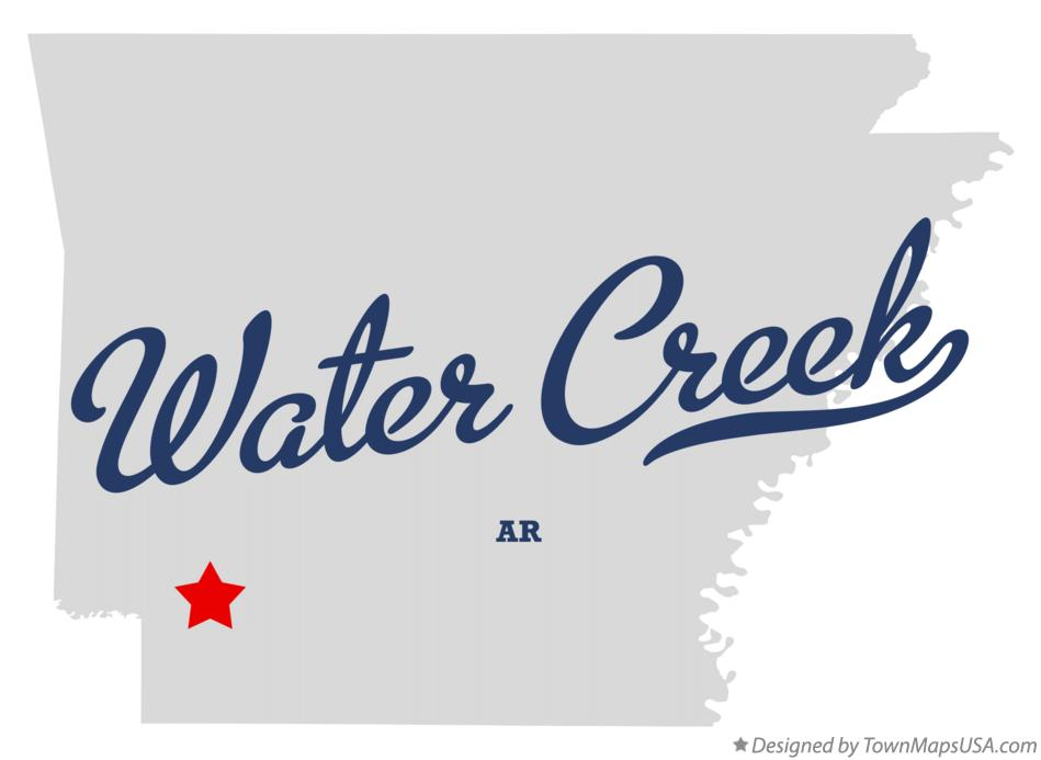 Map of Water Creek Arkansas AR