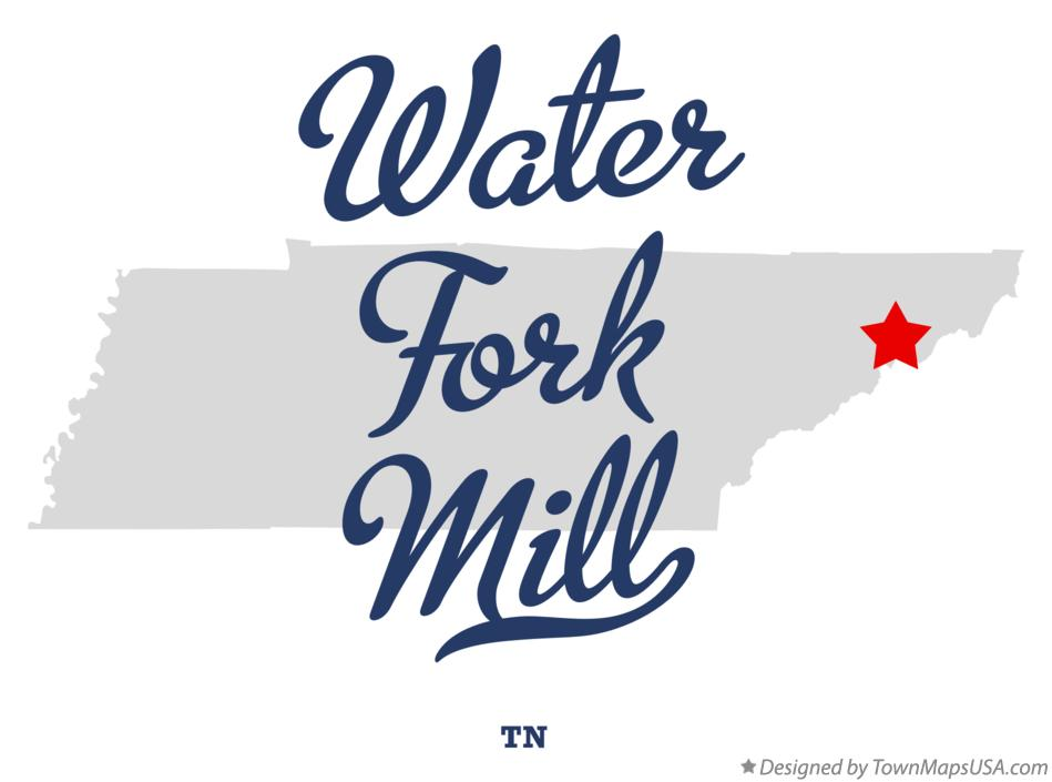 Map of Water Fork Mill Tennessee TN