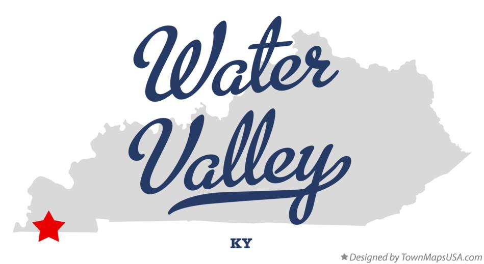 Map of Water Valley Kentucky KY