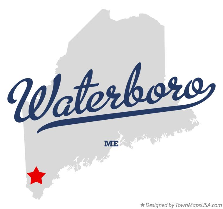 Map of Waterboro Maine ME