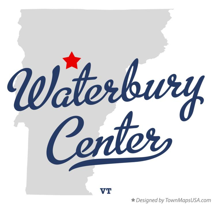Map of Waterbury Center Vermont VT