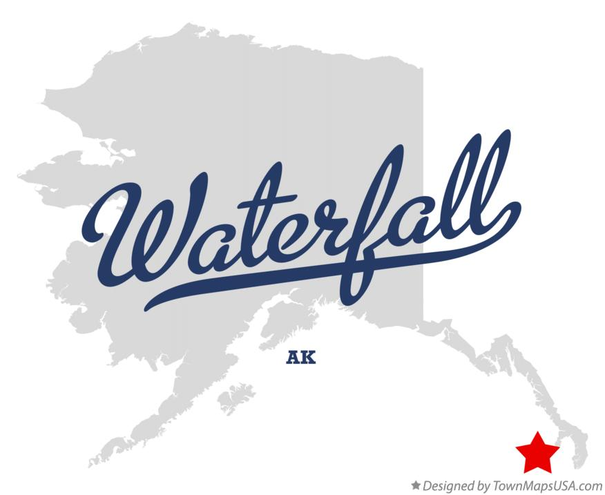 Map of Waterfall Alaska AK