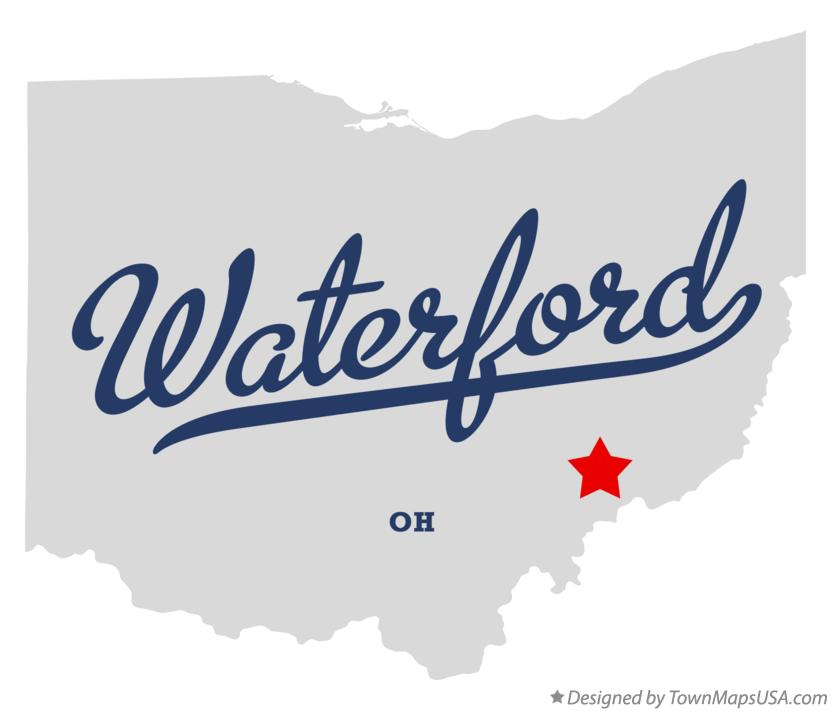 Map of Waterford Ohio OH