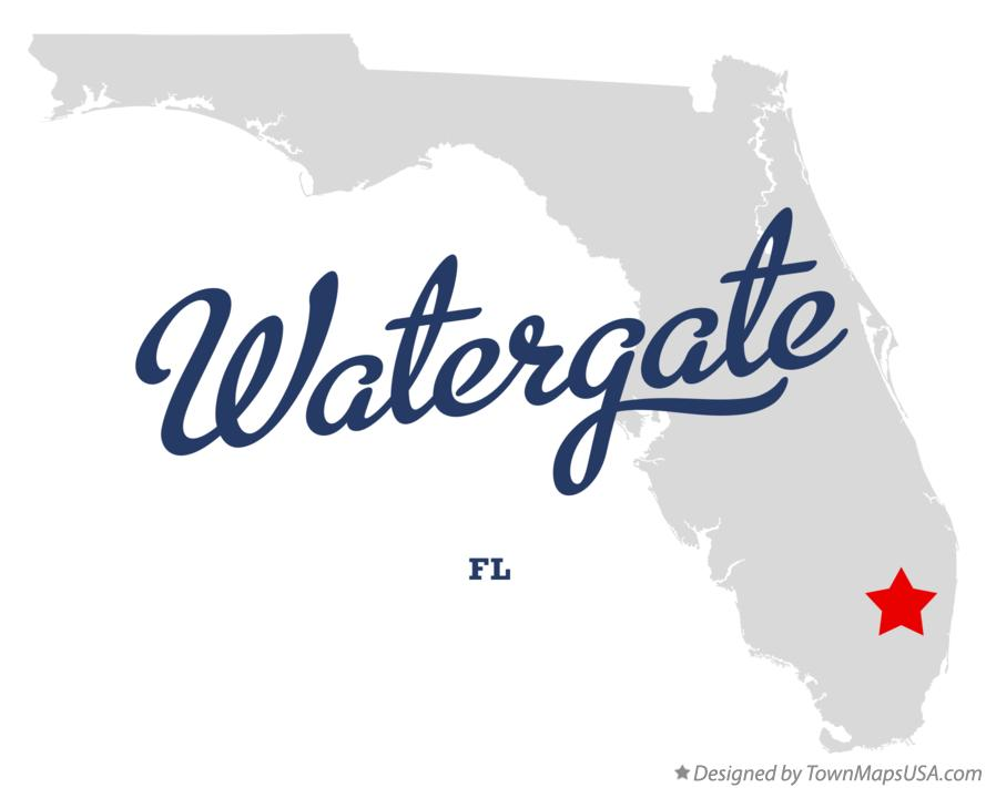 Map of Watergate Florida FL