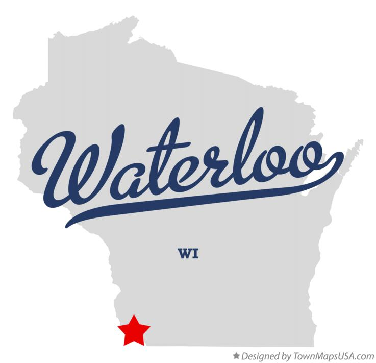 Map of Waterloo Wisconsin WI