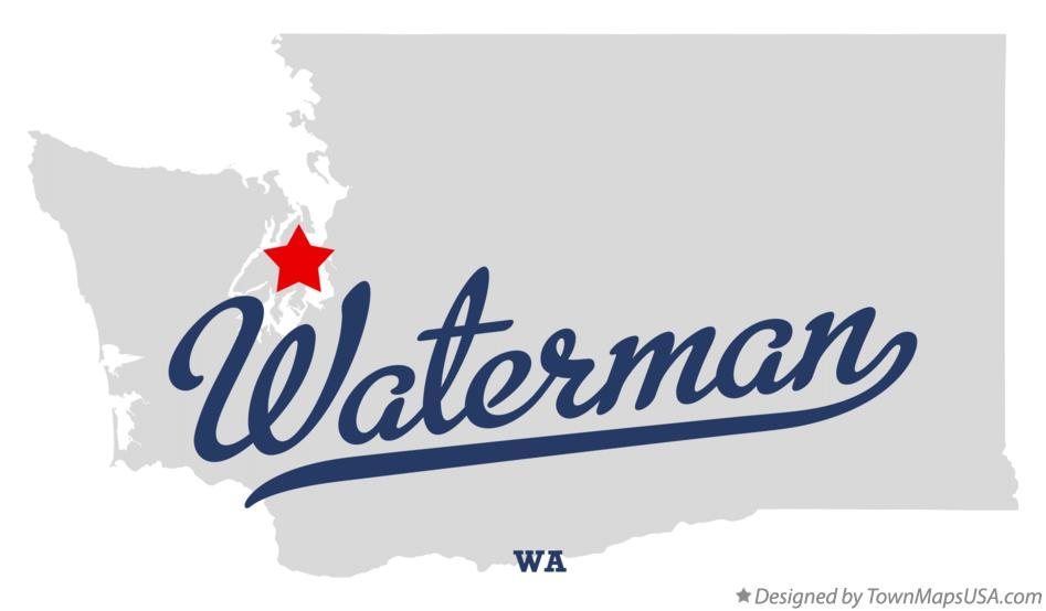 Map of Waterman Washington WA