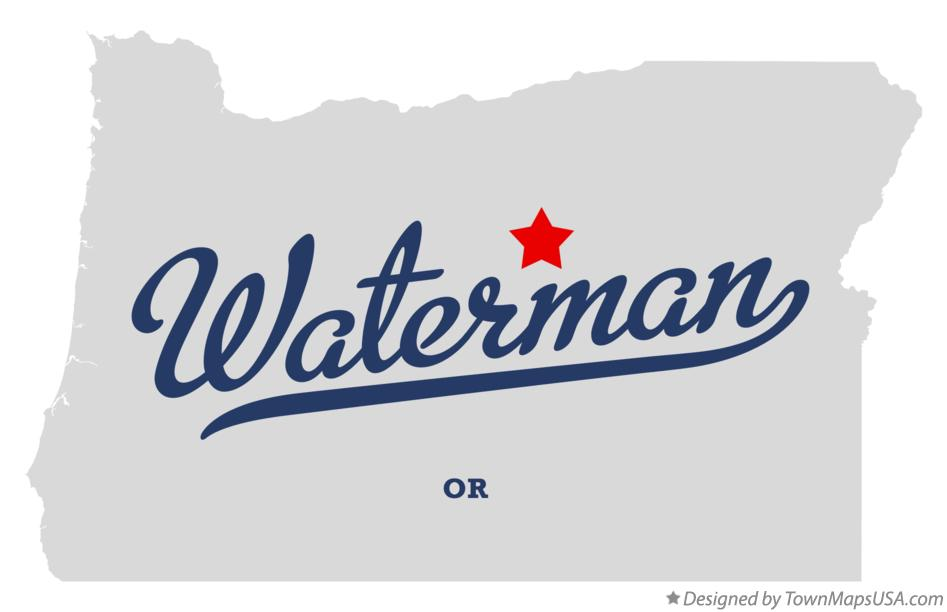 Map of Waterman Oregon OR