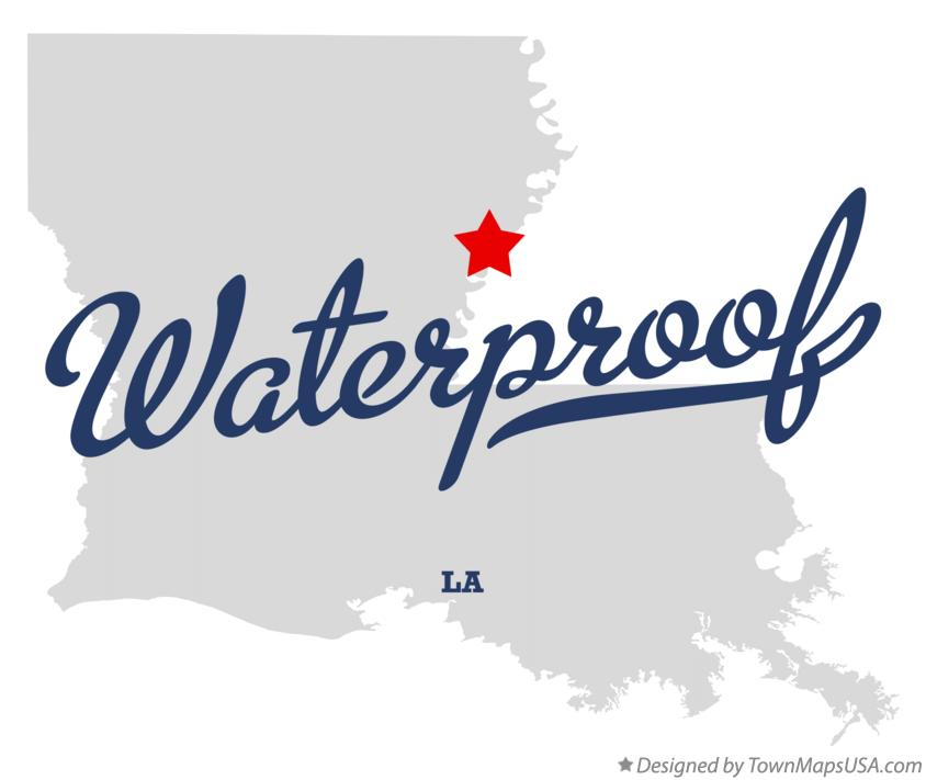 Map of Waterproof Louisiana LA