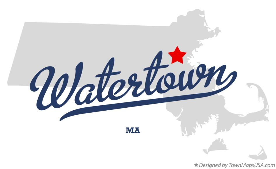 Map of Watertown Massachusetts MA