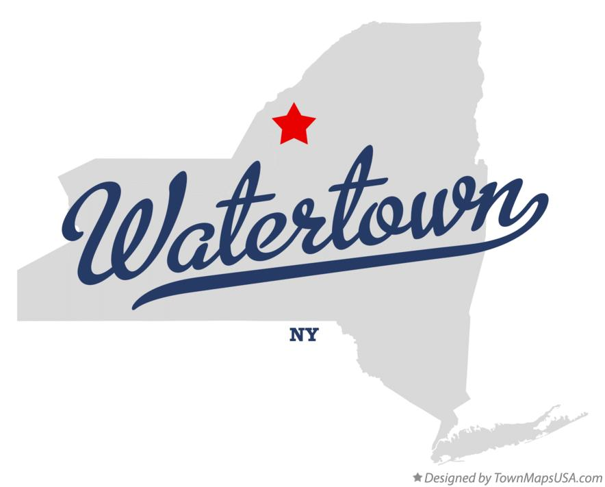 Map of Watertown New York NY