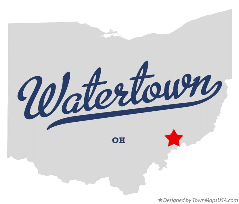 Map of Watertown Ohio OH