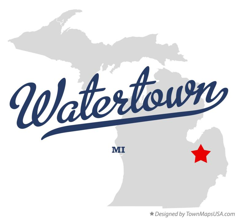 Map of Watertown Michigan MI