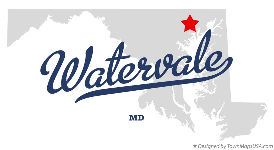 Map of Watervale Maryland MD