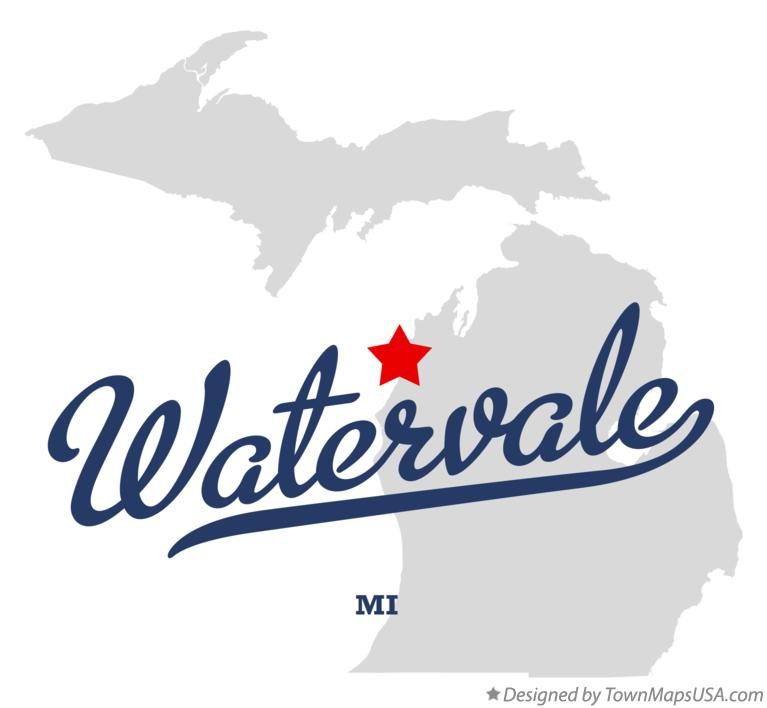 Map of Watervale Michigan MI