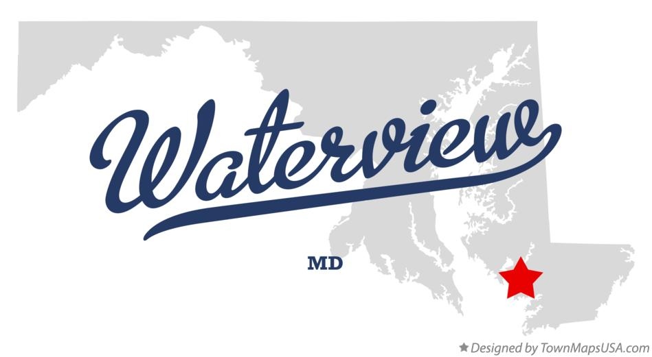 Map of Waterview Maryland MD