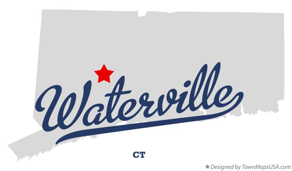 Map of Waterville Connecticut CT