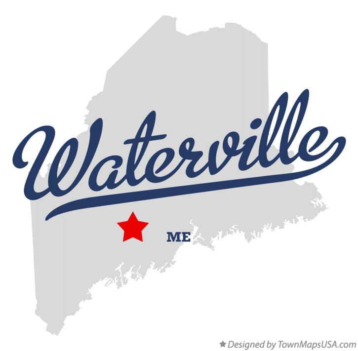 Map of Waterville Maine ME