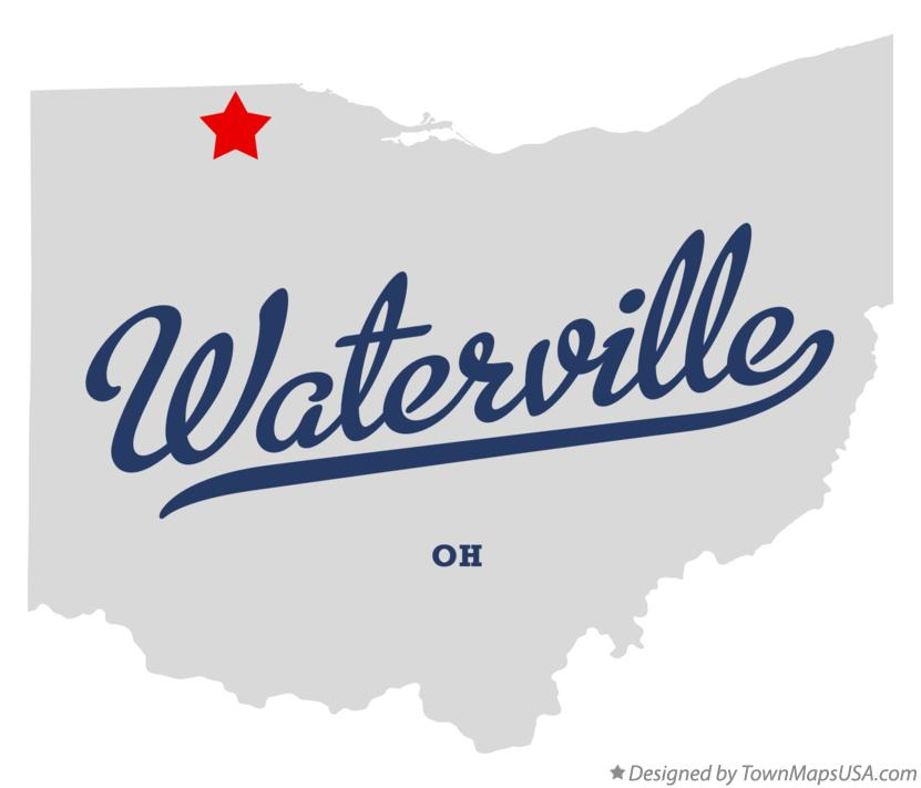 Map of Waterville Ohio OH