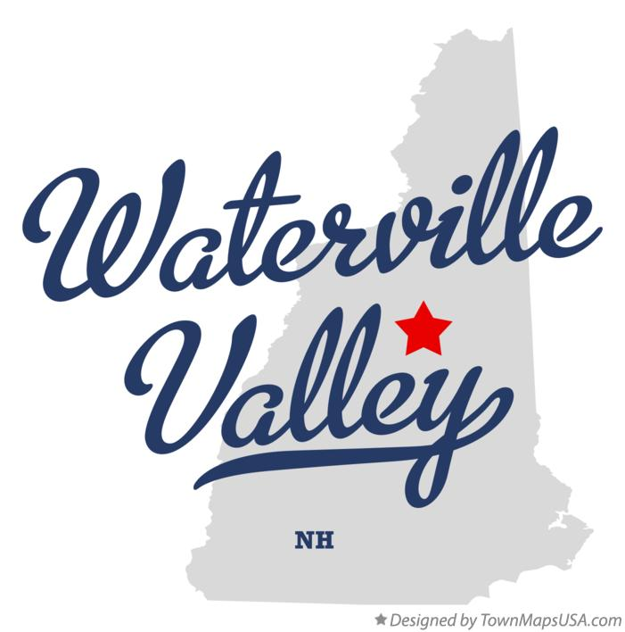 Map of Waterville Valley New Hampshire NH