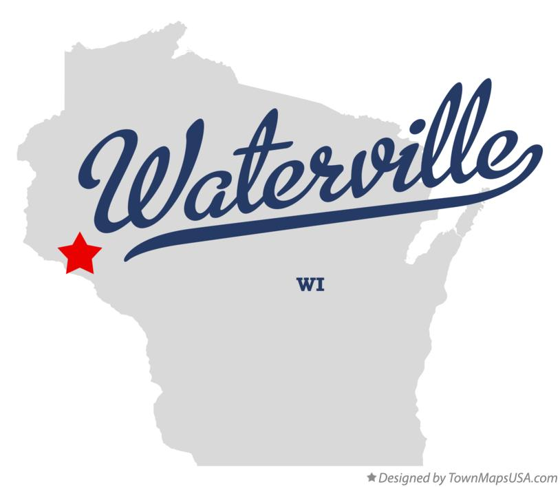 Map of Waterville Wisconsin WI